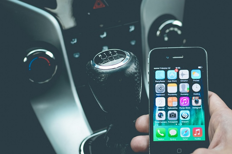 Using a phone whilst driving