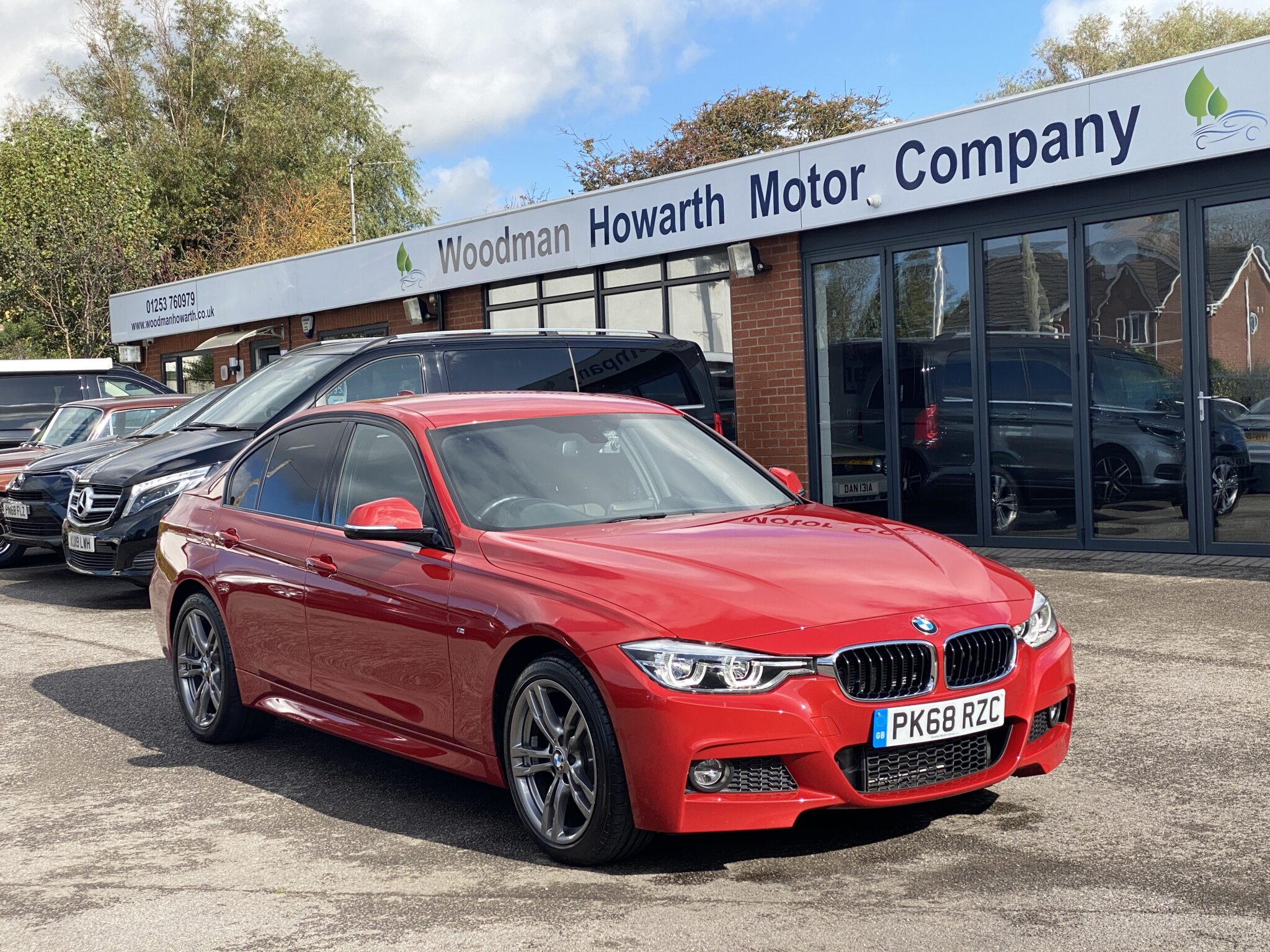 2018 68 BMW 320D M SPORT XDRIVE AUTO BLUE PERFORMANCE Pristine Example Full Leather Navigation