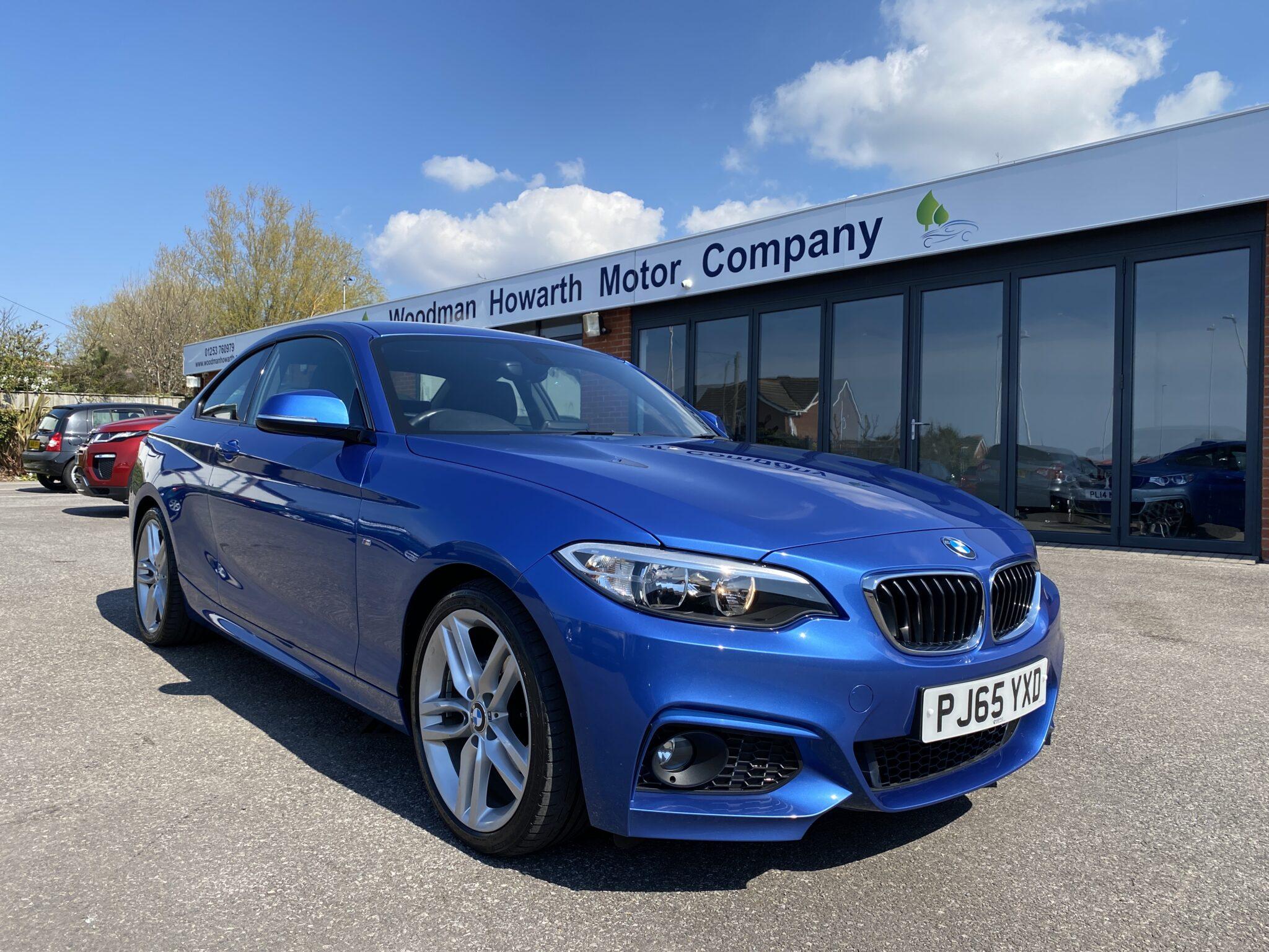 2015 65 BMW 218D M SPORT AUTO COUPE Low Miles Great Colour FSH